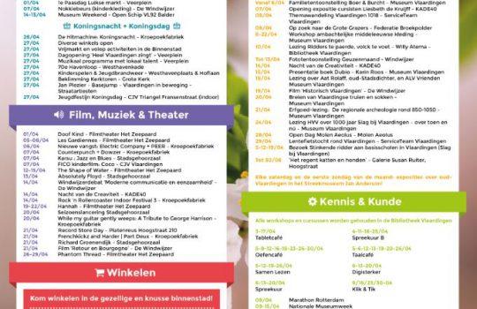 De nieuwe April evenementenkalender!